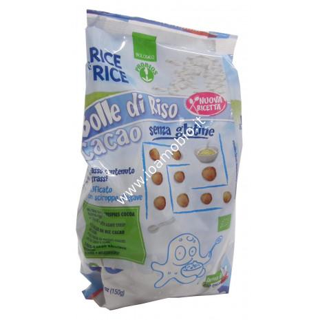 Bolle di Riso al Cacao Senza Glutine 150g - Palline Croccanti biologiche