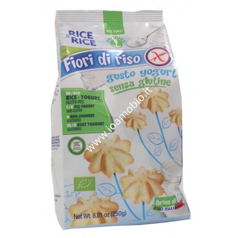 Fiori di Riso allo Yogurt 250g - Rice & Rice Biscotti Frollini biologici