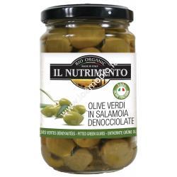 Olive Verdi in Salamoia Denocciolate 280g - Biologiche