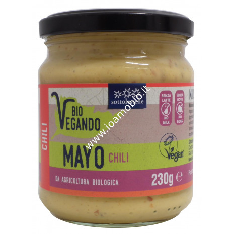 Mayo BioVegando Chili 230g - Maionese Biologica Vegan Sotto le Stelle