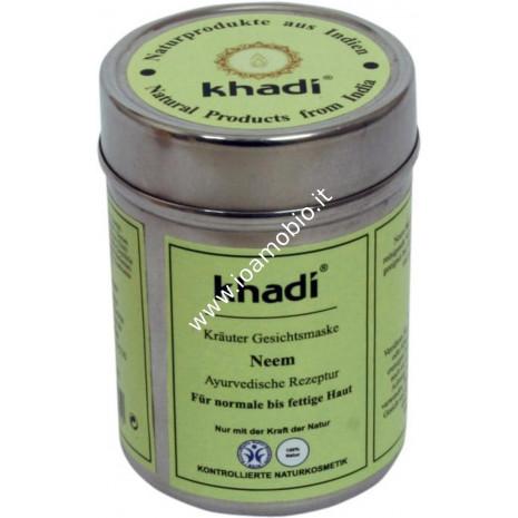 Khadi Bio Maschera Viso Neem 50g - Pelli Normali e Leggermente Oleose