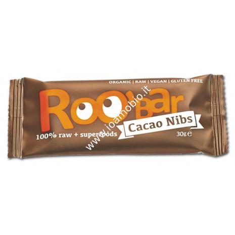 Roobar Barretta Cruda al Cacao - Raw Cacao Nibs 30g