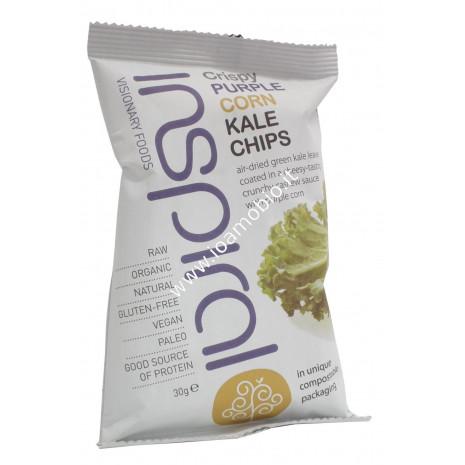 Inspiral- raw kale chips mais viola 30g