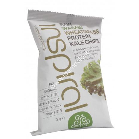 Inspiral- raw kale chips wasabi & erba di grano 30g