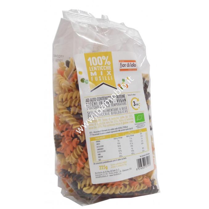 Fusilli lenticchie mix bio 225g