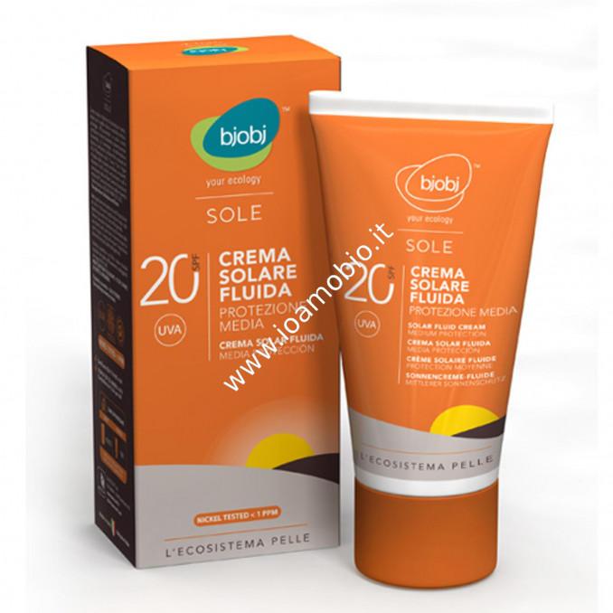Bjobj - Crema Solare SPF 20 - 125 ml Protezione Media