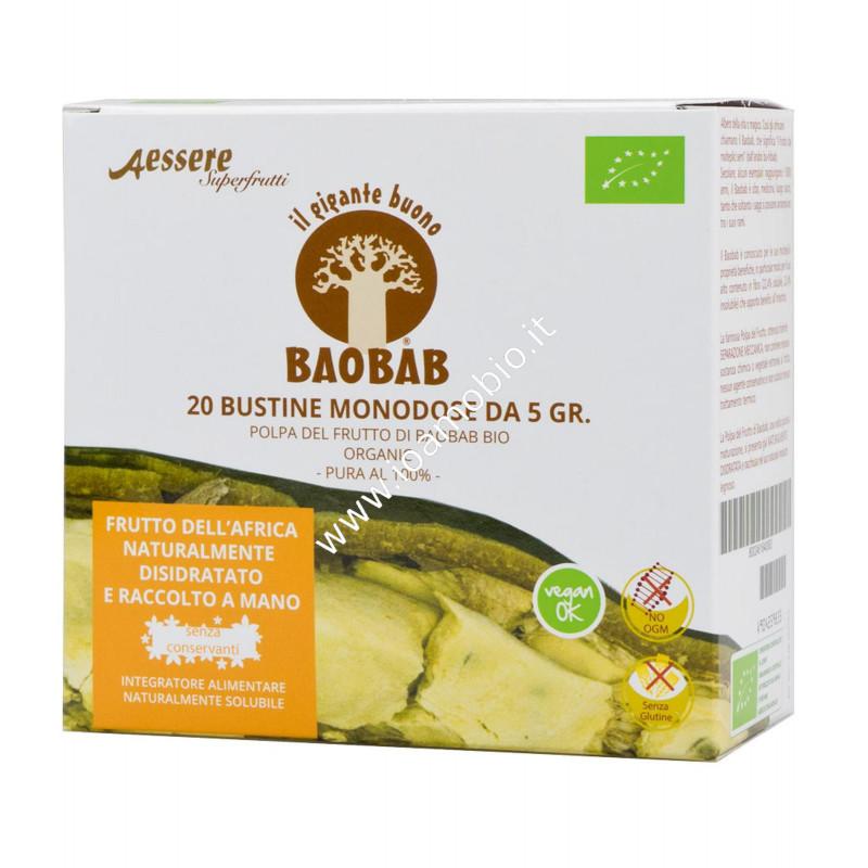 Baobab a essere polpa monodosi bio 20x5g