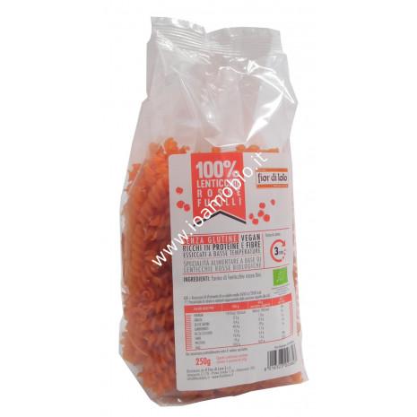 Fusilli di lenticchie rosse bio 250g