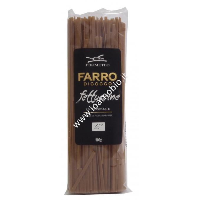 Fettuccine Integrali di Farro Dicocco 500g - Pasta Biologica Prometeo
