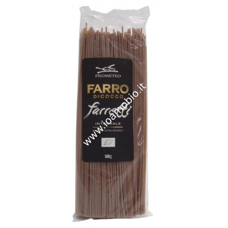 Farretti Spaghetti Integrali di Farro Dicocco 500g - Pasta Biologica Prometeo