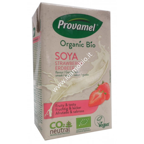 Mini Soya Drink Fragola 250ml - Bevanda di Soia gustio Fragola ( con cannuccia)