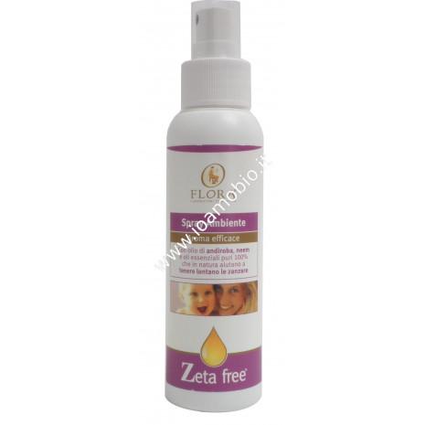 Spray Ambiente Zeta Free 130ml - Flora - Libera dalle Zanzare