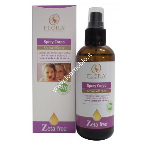 Spray Corpo Zeta Free 100ml - Flora - Aiuta a tenere lontano le zanzare