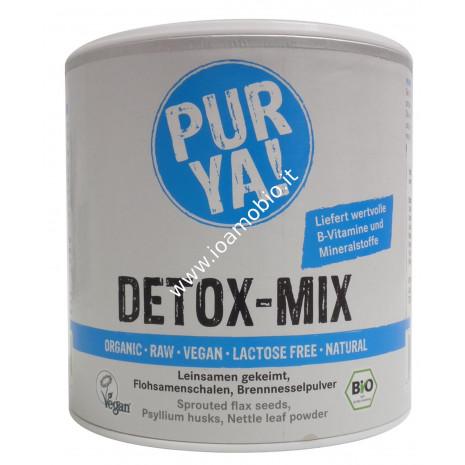 PUR YA! Mix Detox Bio 180g - Integratore Detossinante ricco di Fibre