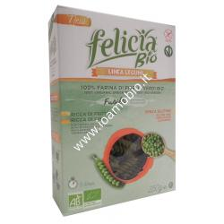 Fusilli di Piselli Verdi 250g - Pasta Biologica di Legumi Free Felicia