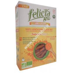 Sedanini di Lenticchie Rosse 250g - Pasta Biologica di Legumi Free Felicia