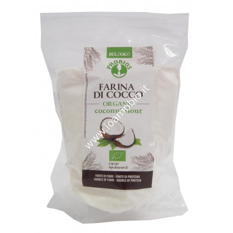 Farina di Cocco Biologica Senza Glutine 250g - Ricca di Fibre e Proteine