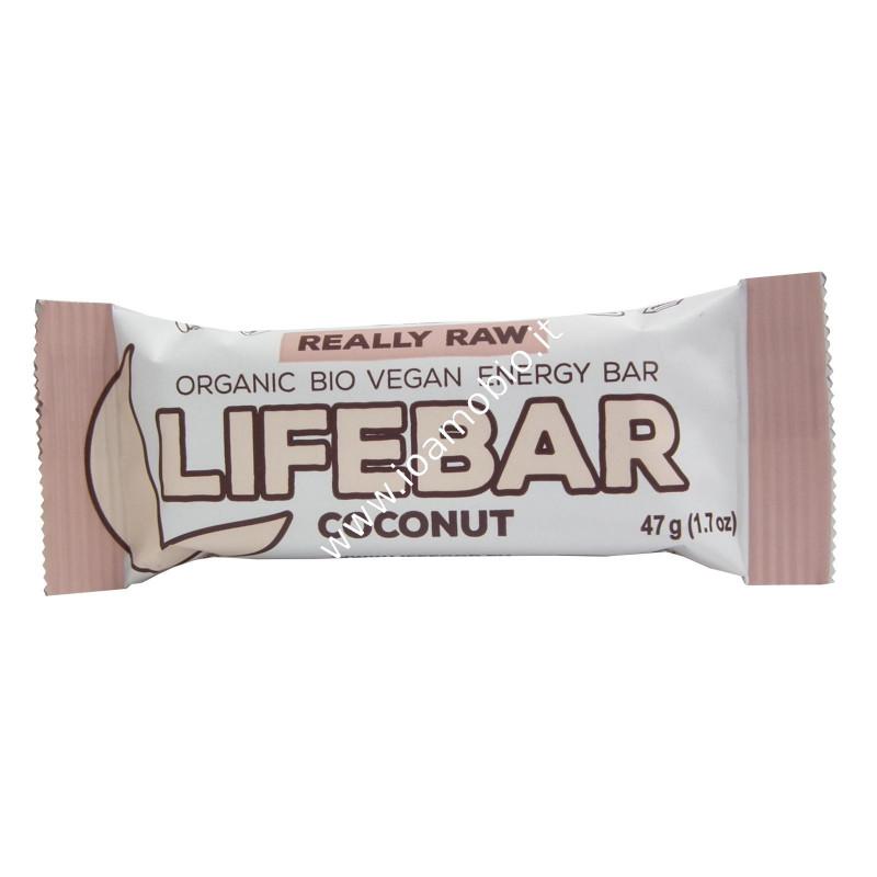 Barrette Lifebar al Cocco bio raw 47g