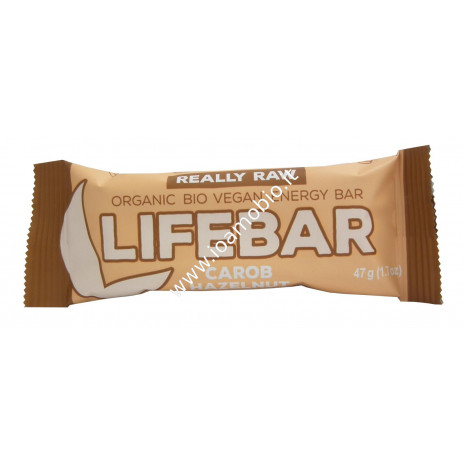 Barretta Lifebar Carruba e Nocciole Raw 47g - Biologica e Cruda