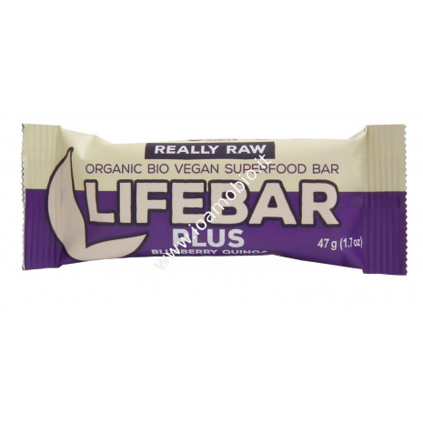 Barrette Lifebar Plus Mirtillo e Quinoa bio raw 47g
