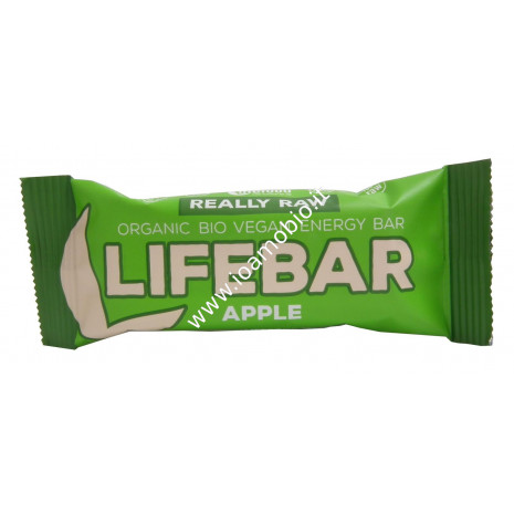 Barretta Lifebar Mela e Cannella Raw 47g - Biologica e Cruda