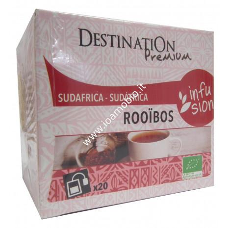 Infusion Tè Rooibos - Sudafrica - Tè Rosso Biologico 20 Filtri
