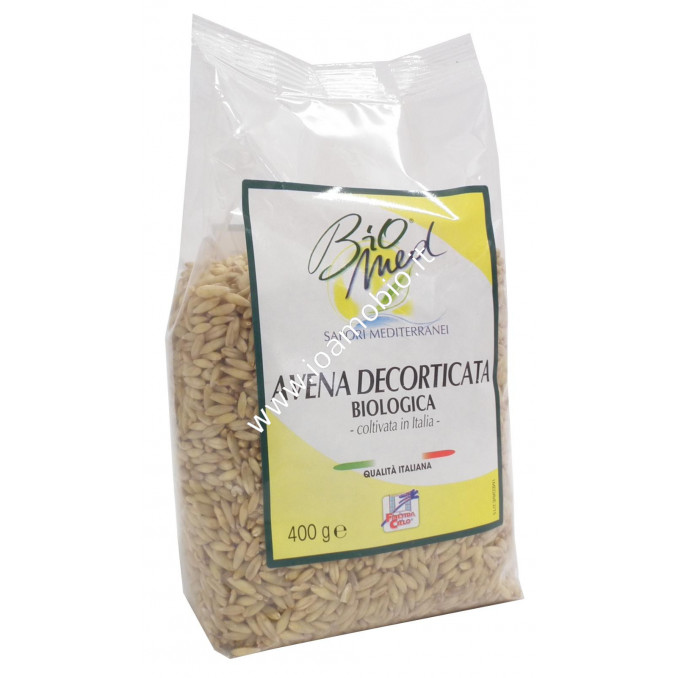 Biomed Avena Decorticata Italiana Biologica 400g - Cereali in Chicco