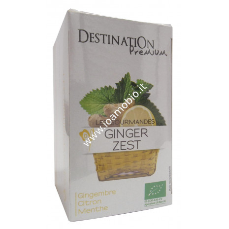 Tisana Ginger Zest - Zenzero Limone e Menta - Biologica Destination