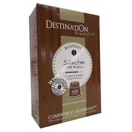 Caffè Biospresso - Selezione n.1 - 100% Arabica 10 capsule - Destination