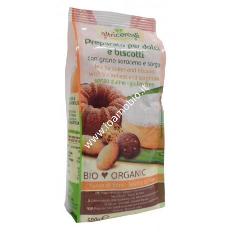 Preparato per Dolci e Biscotti con Grano Saraceno e Sorgo 500g - Biologico