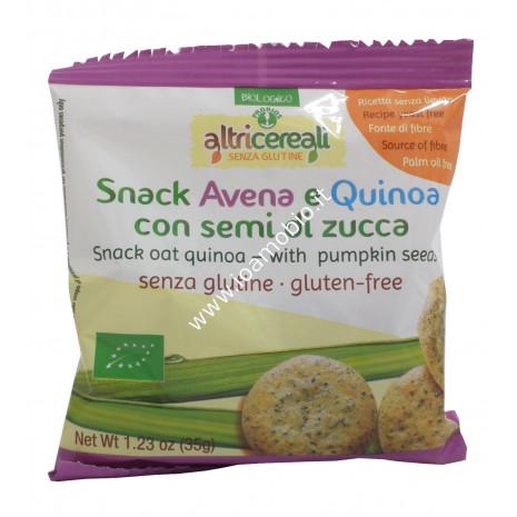 Snack Avena e Quinoa con Semi di Zucca 35g - Biologico Altri Cereali