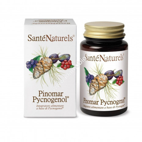 Pinomar Pycnogenol 60 cps - Santè Naturels Picnogenolo, Mirtillo e Acini d'Uva