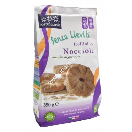 Frollini alle Nocciole Bio 350g - Biscotti Senza Lieviti Sottolestelle