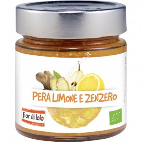 Composta Pera Limone e Zenzero 250g - Marmellata Biologica
