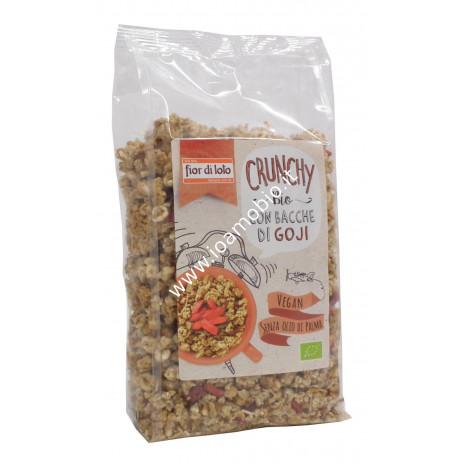 Crunchy avena e bacche di goji bio 375g - Il Fior di Loto