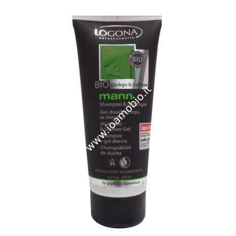 Shampoo e Gel Doccia Logona 200ml - Cosmesi Uomo Bio