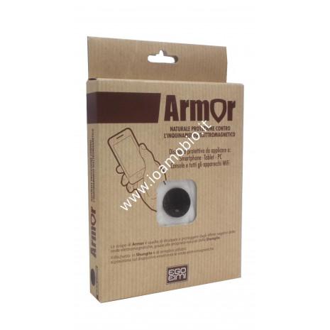 Armor Dischetto in Shungite Lucido 18mm - Contro Onde Elettromagnetiche Negative