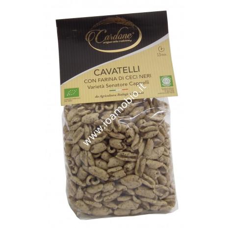 Cavatelli con Farina di Ceci Neri - Varietà Senatore Cappelli 250g - Pasta Bio