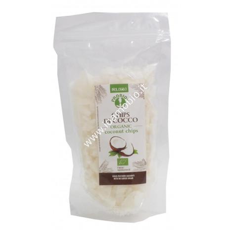 Chips di Cocco Senza Glutine 125g - Cocco Essiccato Biologico