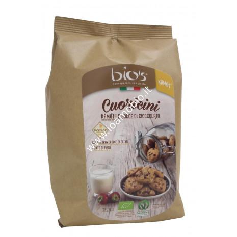 Cuoricini di kamut® con gocce di cioccolato 250g