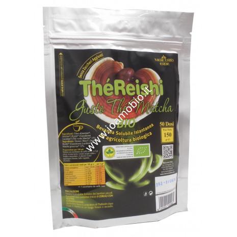 Thè Reishi Bio 150g - Bevanda Solubile Gusto Thè Matcha, senza zuccheri aggiunti