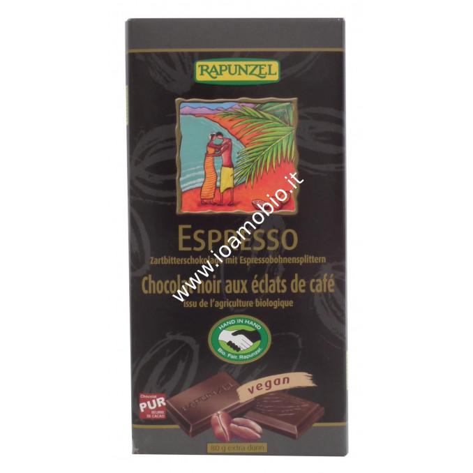 Cioccolato Fondente Espresso con Chicchi di Caffè 80g - Biologico Rapunzel