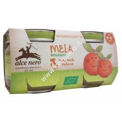 Omogeneizzato Mela Bio Alce Nero 2x80g - Baby Food Biologico
