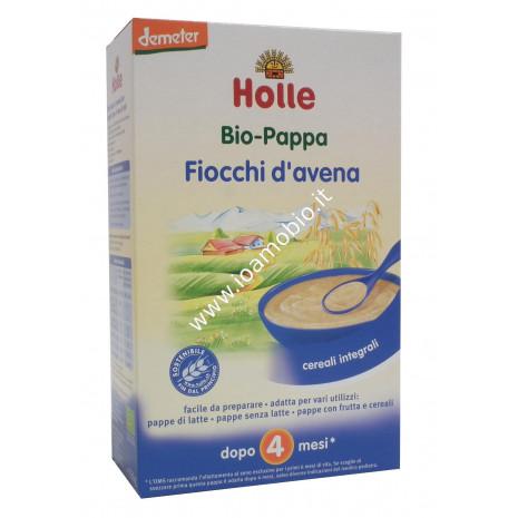 Pappa di Fiocchi di Avena Integrale Holle 250g - Baby Food Biologico Dopo i 4 Mesi