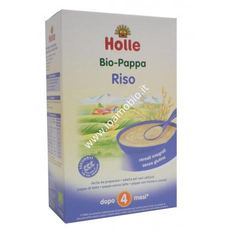 Pappa di Riso Integrale Holle 250g - Baby Food Biologico Dopo i 4 Mesi