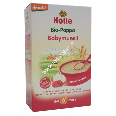 Baby Muesli Integrale Holle 250g - Pappa Biologica Colazione Dopo i 6 Mesi