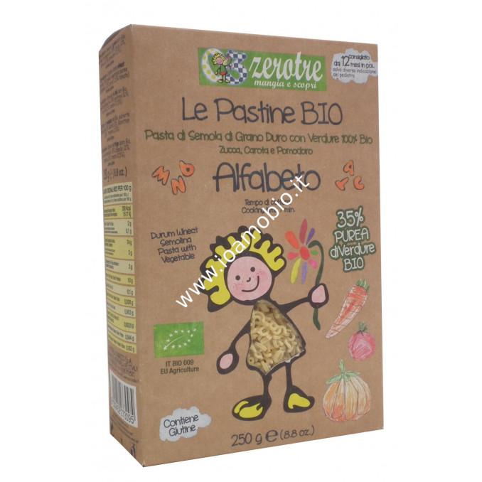 Pasta di Semola di Grano Duro Alfabeto con Verdure 250g - Pastina Zerotre