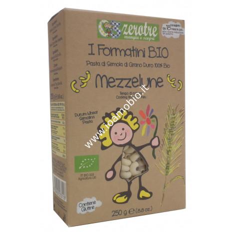 Pasta di Semola Di Grano Duro Mezzelune 250g - Biologica Zerotre