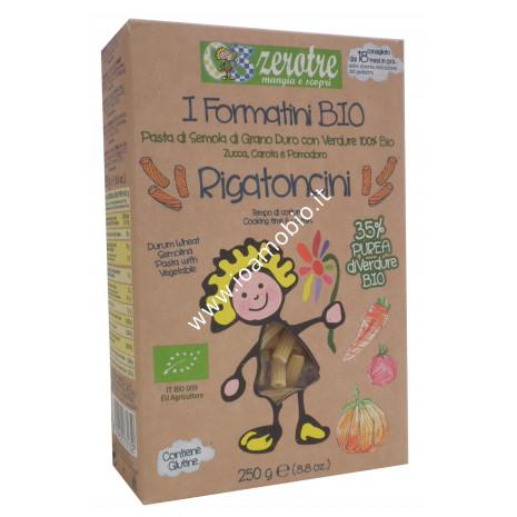 Rigatoncini con Verdure 250g - Pasta Biologica Zerotre