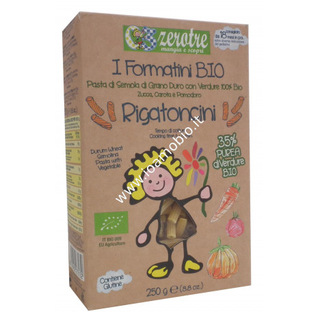 Rigatoncini con verdure 250g